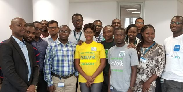 Fidelity Bank team outside their office.