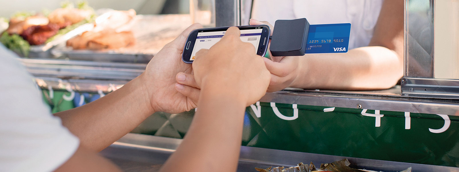 mobile purchasing at a food truck