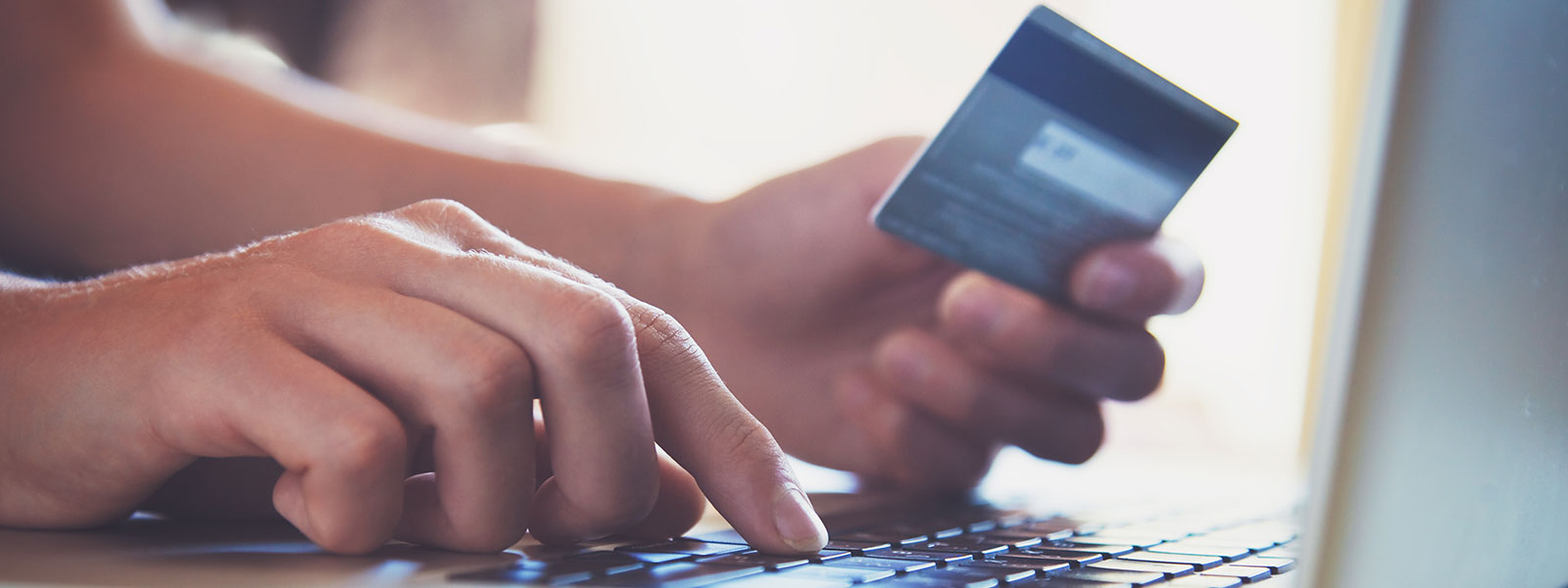credit card purchasing on computer