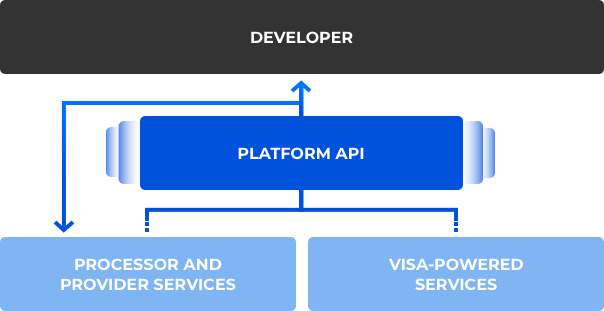 Graphic of how Visa Next helps developers